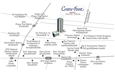Centre Point Hotel Pratunam - Map