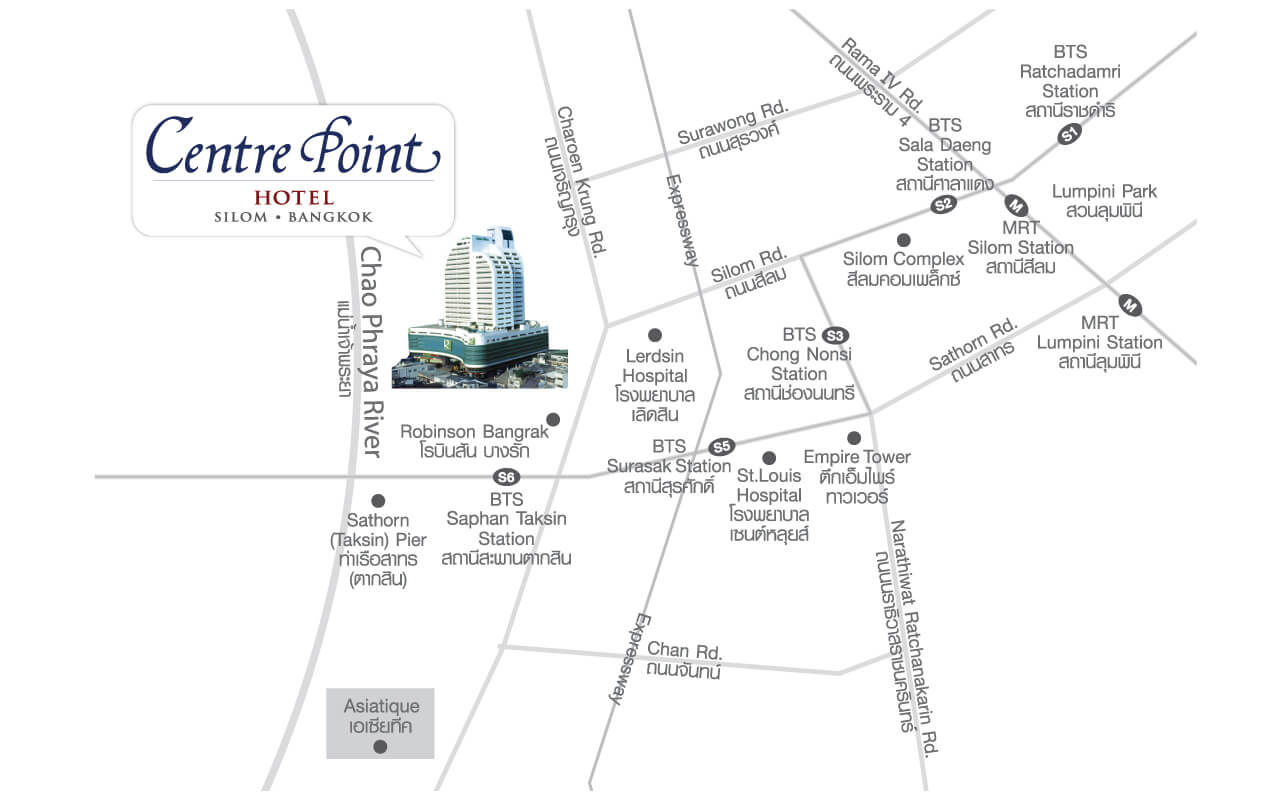 Centre Point Hotel Silom - Map