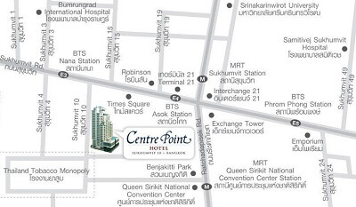 Centre Point Hotel Sukhumvit-10 - Map