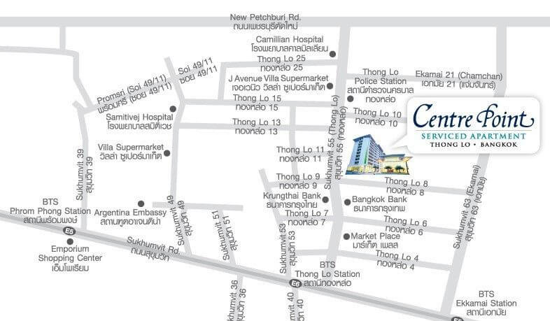 Centre Point Serviced Apartment Thong-Lo - Map
